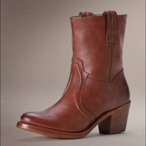 Frye Boots Jane Trapunto Stitched Leather Boot